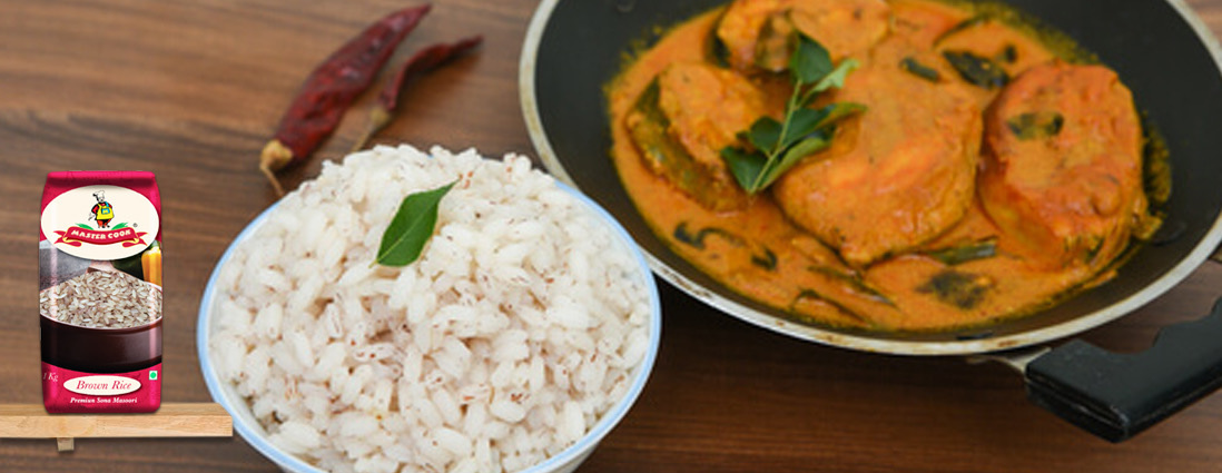 Alleppey Fish Curry with Brown Rice Recipe