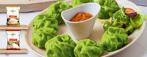 Palak Vegetable Momos